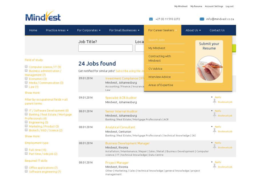 Mindvest_Job_Search