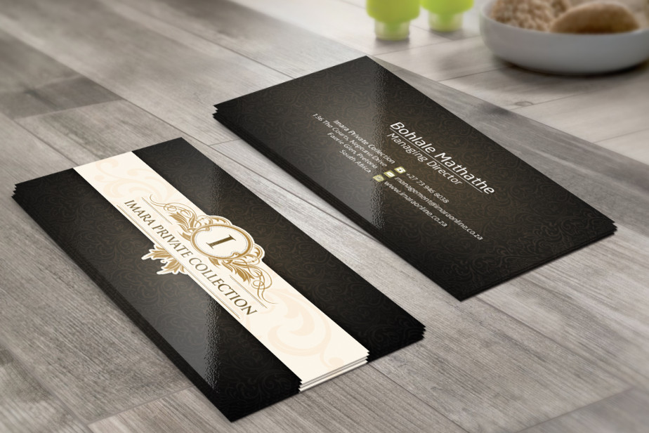 Business Cards Imara Private Collection Internet Services